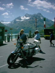 Sharine with her Bike - Austria - 2006