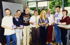 1999 CD Präsentation - the whole crew involved